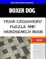 Boxer Dog Trivia Crossword Puzzle and Wordsearch Book af Mega Media Depot