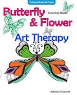 Coloring Books for Teens Butterfly Flower Art Therapy Coloring Book af Adriana P. Jenova