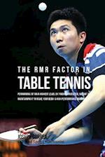 The Rmr Factor in Table Tennis
