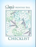 Simple Monthly Bill Checklist