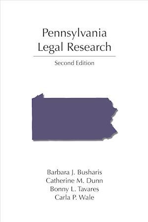 Bog, paperback Pennsylvania Legal Research af Barbara Busharis