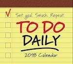 To-Do Daily 2018 Calendar