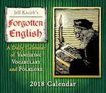Jeff Kacirk's Forgotten English 2018 Calendar