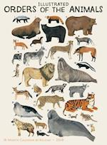 Illustrated Orders of the Animals 2018 Wall Calendar