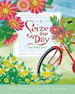 Seize the Day and Make It Yours! 2018 Monthly Easel Flip Calendar