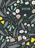 Floral Pattern in Gold 2018 Engagement Calendar