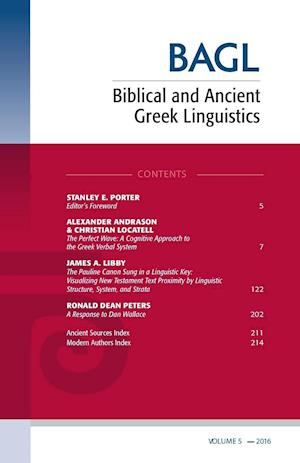 Bog, paperback Biblical and Ancient Greek Linguistics, Volume 5 af Stanley E Porter