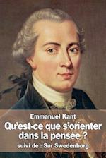 Qu'est-Ce Que S'Orienter Dans La Pensee ? af Emmanuel Kant