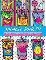 Beach Party Coloring Book
