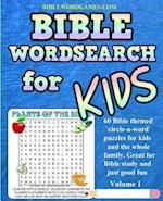 Kids Bible Word Search Puzzles Volume 1