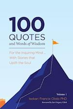 100 Quotes and Words of Wisdom