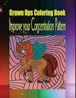 Grown Ups Coloring Book Improve Your Concentration Pattern af Robert Luce