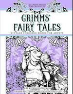 Coloring Books for Grownups Grimms' Fairy Tales af Vintage Coloring Books