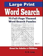 Large Print Word Search, Volume 1 af R. K. Long