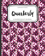 Quarterly Guided Bullet Journal Pink Geo