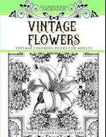 Coloring Books for Grownups Vintage Flowers af Vintage Coloring Books