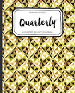 Quarterly Guided Bullet Journal Gold Geo