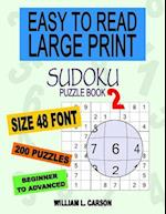 Easy to Read Large Print Sudoku