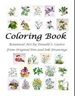 Botanical Art Coloring Book