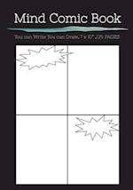 Mind Comic Book - 7 X 10 135 P, 4 Panel, Blank Comic Books, Create by Yourself
