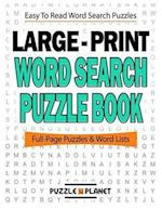 Large Print Word Search Puzzle Book af Puzzle Planet