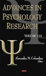 Advances in Psychology Research (Advances in Psychology Research, nr. 123)