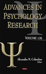 Advances in Psychology Research (Advances in Psychology Research, nr. 126)