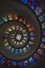 A Stained Glass Windows in a Spiral Journal