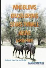Wind Blows Grass Grows Stars Twinkle Above Large Print