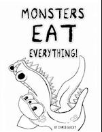 Monsters Eat Everything! Adult Colouring Book