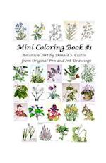Mini Botanical Art Coloring Book