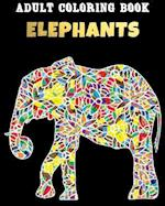 Adult Coloring Book - Elephants