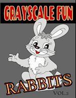 Grayscale Fun Rabbits Vol.2