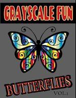 Grayscale Fun Butterflies Vol.1