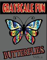Grayscale Fun Butterflies Vol.2