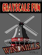 Grayscale Fun Windmills Vol.2