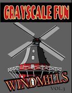 Grayscale Fun Windmills Vol.3