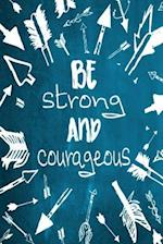 Chalkboard Journal - Be Strong and Courageous (Aqua)