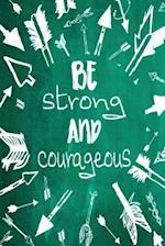 Chalkboard Journal - Be Strong and Courageous (Green)