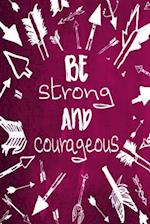 Chalkboard Journal - Be Strong and Courageous (Pink)