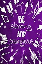 Chalkboard Journal - Be Strong and Courageous (Purple)