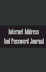 Internet Address and Password Journal