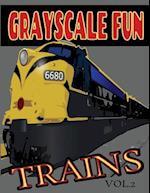 Grayscale Fun Trains Vol.2