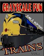 Grayscale Fun Trains (Rails) Vol.1