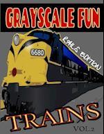 Grayscale Fun Trains (Rails) Vol.2