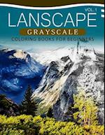 Landscapes Grayscale Coloring Books for Beginners Volume 1