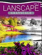 Landscapes Grayscale Coloring Books for Beginners Volume 2