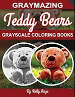 Graymazing Teddy Bears Grayscale Coloring Book