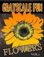 Grayscale Fun Flowers Vol.1