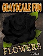 Grayscale Fun Flowers Vol.2